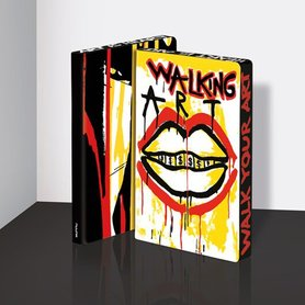 Notitieboek A5 - Walking Art by Marija Mandic, zacht leer