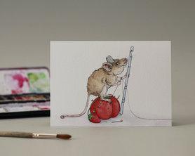 Wenskaart - Crafty Mouse