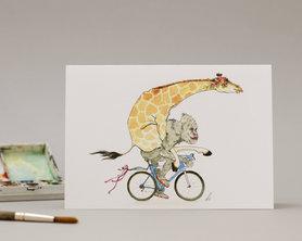 Wenskaart - Biking Bride