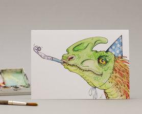 Wenskaart - Dino Popper