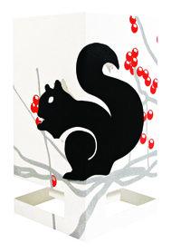Wenskaart theelicht eekhoorn