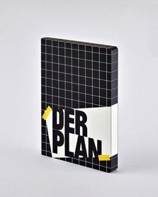 Notitieboek A5 - Der Plan, zacht leer, zwart-witte print