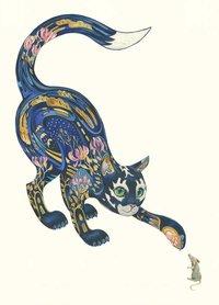 Wenskaart - kat en muis
