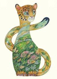 Wenskaart - jaguar welp