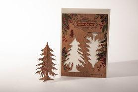 Houten kaart Grand Wooden Assembly - dennenboom