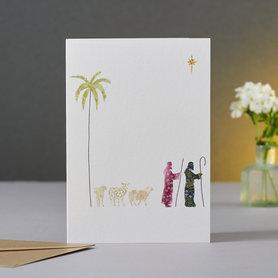 Wenskaart Kerst Shepherds & Sheep