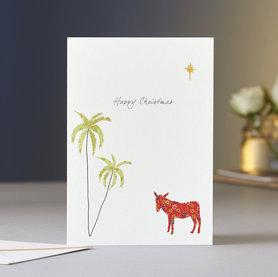 Wenskaart Kerst Little Donkey