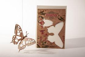 Houten kaart Grand Wooden Assembly - vlinder