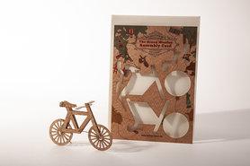 Houten kaart Grand Wooden Assembly - fiets
