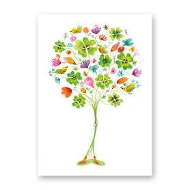 Wenskaart - Good luck bouquet