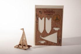 Houten kaart Grand Wooden Assembly - catamaran