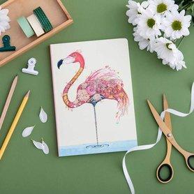 Notitieboek - flamingo
