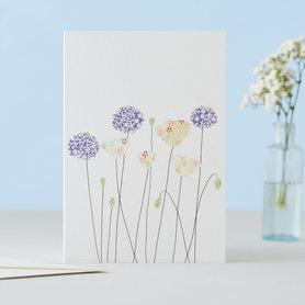 Wenskaart Poppies & Alliums