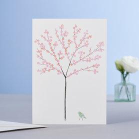 Wenskaart Blossom Tree