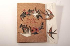 Houten wenskaart - Happily ever after
