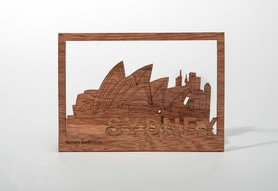 Houten kaart - Sydney