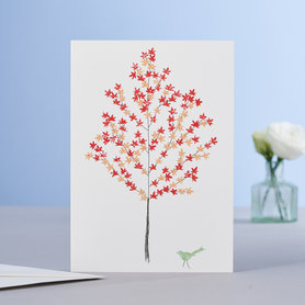 Wenskaart Maple Tree