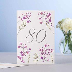 Wenskaart Thalictrum 80 Birthday