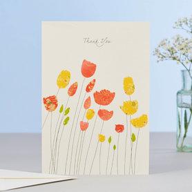 Wenskaart Tulips Thank You