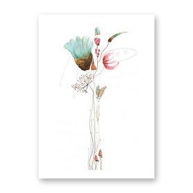 Wenskaart - Verstilde bloemen compositie