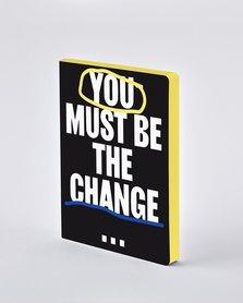 Notitieboek A5 - You Must Be The Change, zacht leer