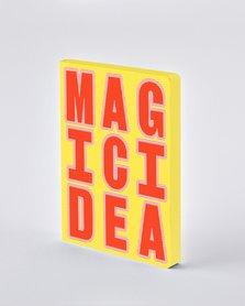 Notitieboek A5 - Magic Idea, zacht leer, fluorescerende tekst