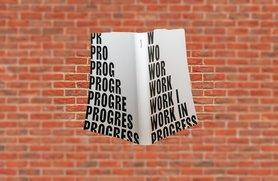 Notitieboek A5 - Work in Progress, zacht leer