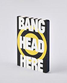Notitieboek A5 - Bang Head Here, zacht leer