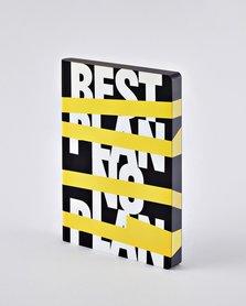 Notitieboek A5 - Best Plan - No Plan, zacht leer