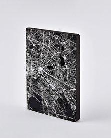Notitieboek A5 - Nightflight over Berlin, zilver