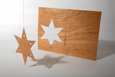 Houten kaart - ster