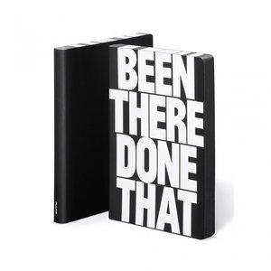 Notitieboek A5 - Been There, zacht leer, witte tekst