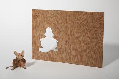 Houten kaart - muis