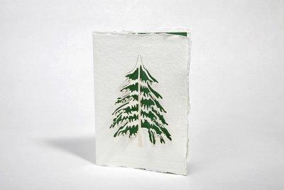 Handgeschept papier - denneboom