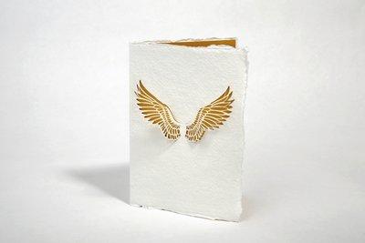 Handgeschept papier - vleugels