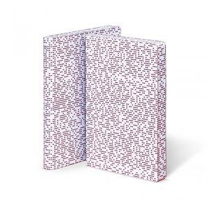Notitieboek A5 - Megapixel, zacht leer, blauwe en rode print