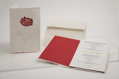 Handgeschept papier - roos