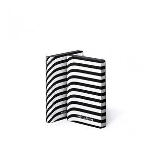 Notitieboek A6 - Pret-a-écrire, zacht leer, witte print