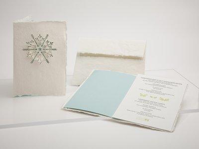 Handgeschept papier - sneeuwvlok