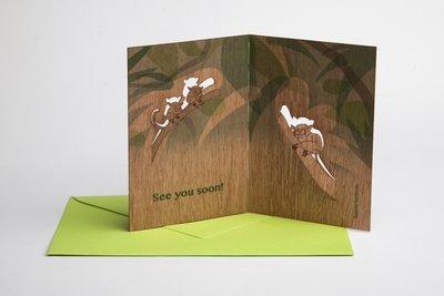 Houten kaart pop-up - maki