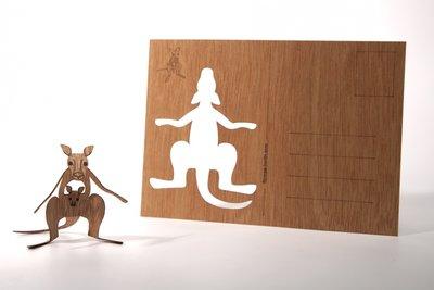 Houten kaart - kangoeroe