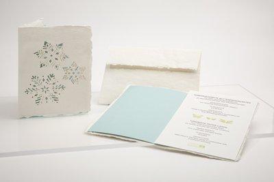 Handgeschept papier - sneeuw