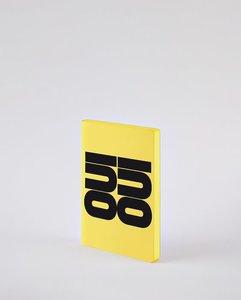 Notitieboek A6 - Oui Oui, zacht leer, zwarte tekst