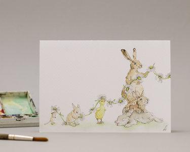 Wenskaart - Easter Bunnies